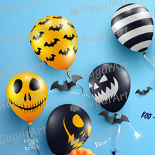 Load image into Gallery viewer, Blue Halloween Ghost Balloons - Icing - ISA154