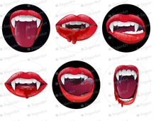 Load image into Gallery viewer, Realistic Vampire Mouth Halloween - Icing - ISA157