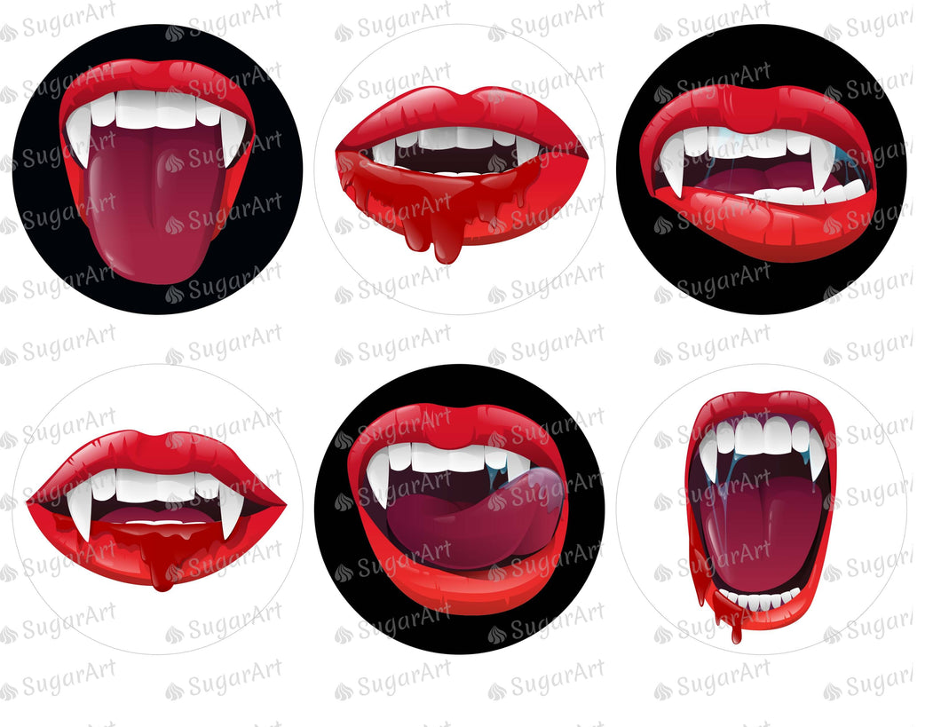 Realistic Vampire Mouth Halloween - Icing - ISA157