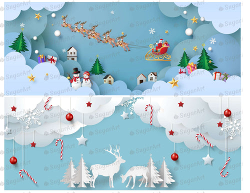 Winter Landscape Paper Style - Icing - ISA160 - Sugar Art Canada