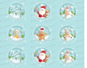 Collection of 12 Winter Round Designs - Icing - ISA162 - Sugar Art Canada