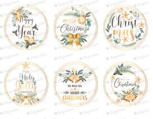 Collection of 6 Golden Winter Holidays - Icing - ISA166