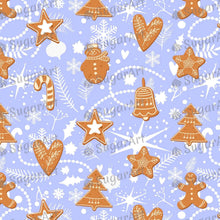 Load image into Gallery viewer, Gingerbread Cookies On Blue Background - Icing - ISA169