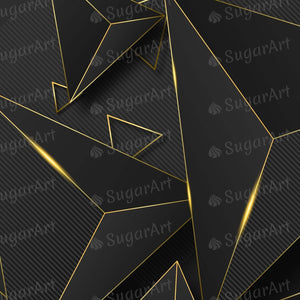 Golden Black Abstract Background - Icing - ISA170