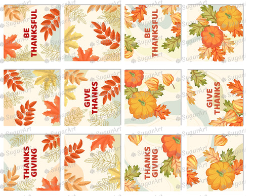 Thanksgiving 2.5 inch Squares Set - Icing - ISA176