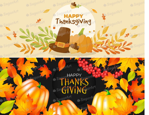 Happy Thanksgiving set of 2 - Icing - ISA177