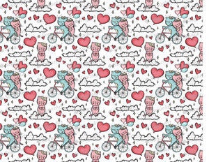 Romantic Cats on- Bicycle - Icing - ISA205