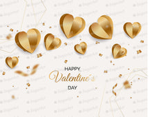 Load image into Gallery viewer, Golden Happy Valentines Day Background - Icing - ISA211