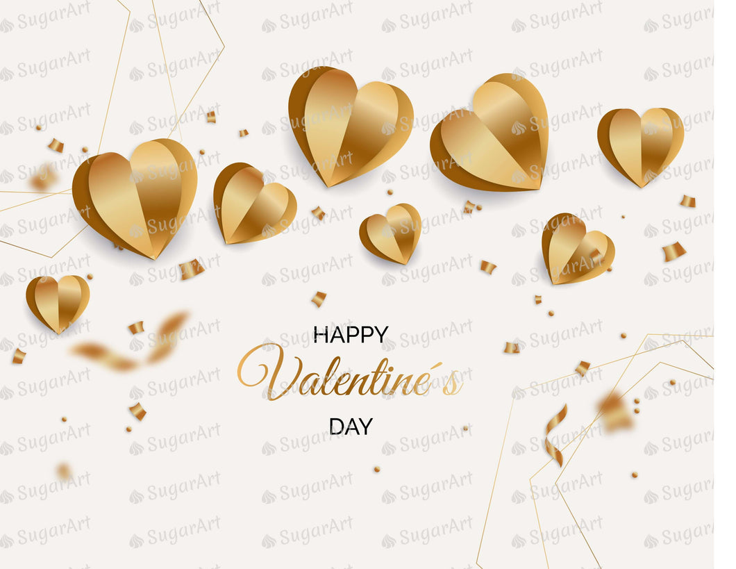Golden Happy Valentines Day Background - Icing - ISA211