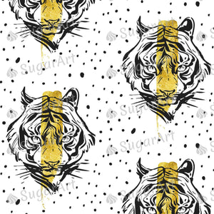 Creative Tiger Face Illustration - Icing - ISA214
