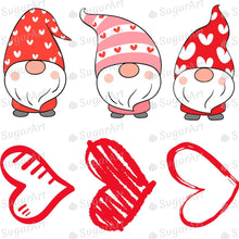 Load image into Gallery viewer, Cute Gnomes and Hearts Valentine Set - Icing - ISA215