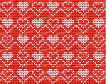 Load image into Gallery viewer, Knitted Hearts for Valentines Day - Icing - ISA217