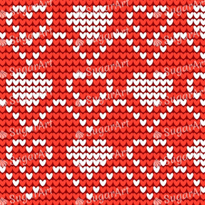 Knitted Hearts for Valentines Day - Icing - ISA217
