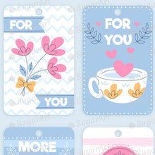 Load image into Gallery viewer, Collection of 8 Labels for Valentine - Icing - ISA218