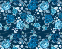 Load image into Gallery viewer, Blue Flowers Background- Icing - ISA223