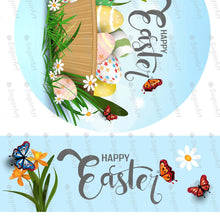 Load image into Gallery viewer, Happy Easter Round Topper for Cake - Icing - ISA234