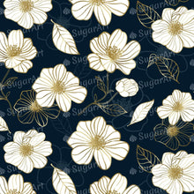 Load image into Gallery viewer, Luxury Flowers on Dark Blue Background - Icing - ISA242