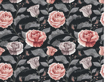 Load image into Gallery viewer, Dark Vintage Roses Pattern - Icing - ISA243