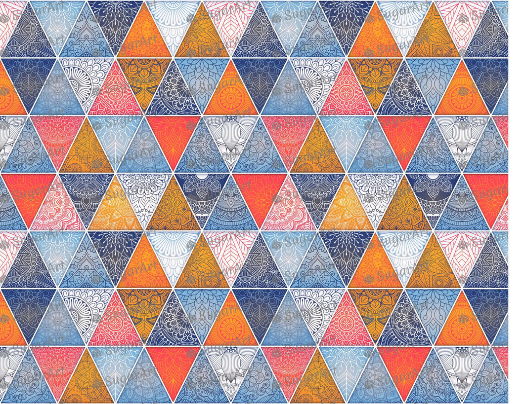Geometric Abstract Background with Mandalas - Icing - ISA247