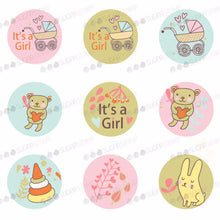 Load image into Gallery viewer, Especially for the new born baby girl - B04-Sugar Stamp sheets-Sugar Art
