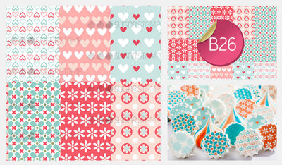 Hearts and Flowers - B26