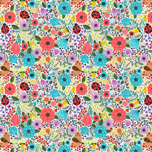 Colorful Summer Floral Background - BSA006-Sugar Stamp sheets-Sugar Art