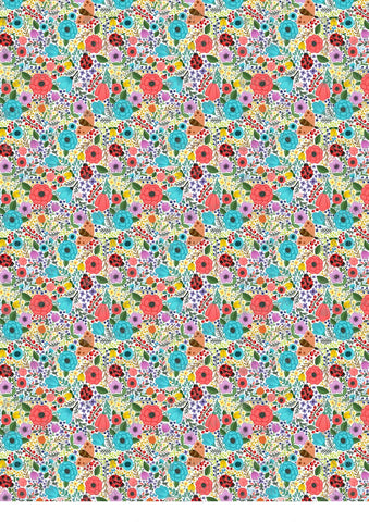 Colorful Summer Floral Background - BSA006
