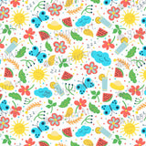 Colourful Summer Time Background - BSA009