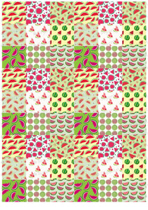Watermelon Pattern - BSA011-Sugar Stamp sheets-Sugar Art
