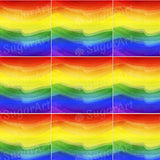 Rainbow Watercolor Waves Background - BSA022