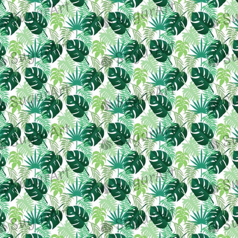Tropical Leaves Background - Ferns - BSA026