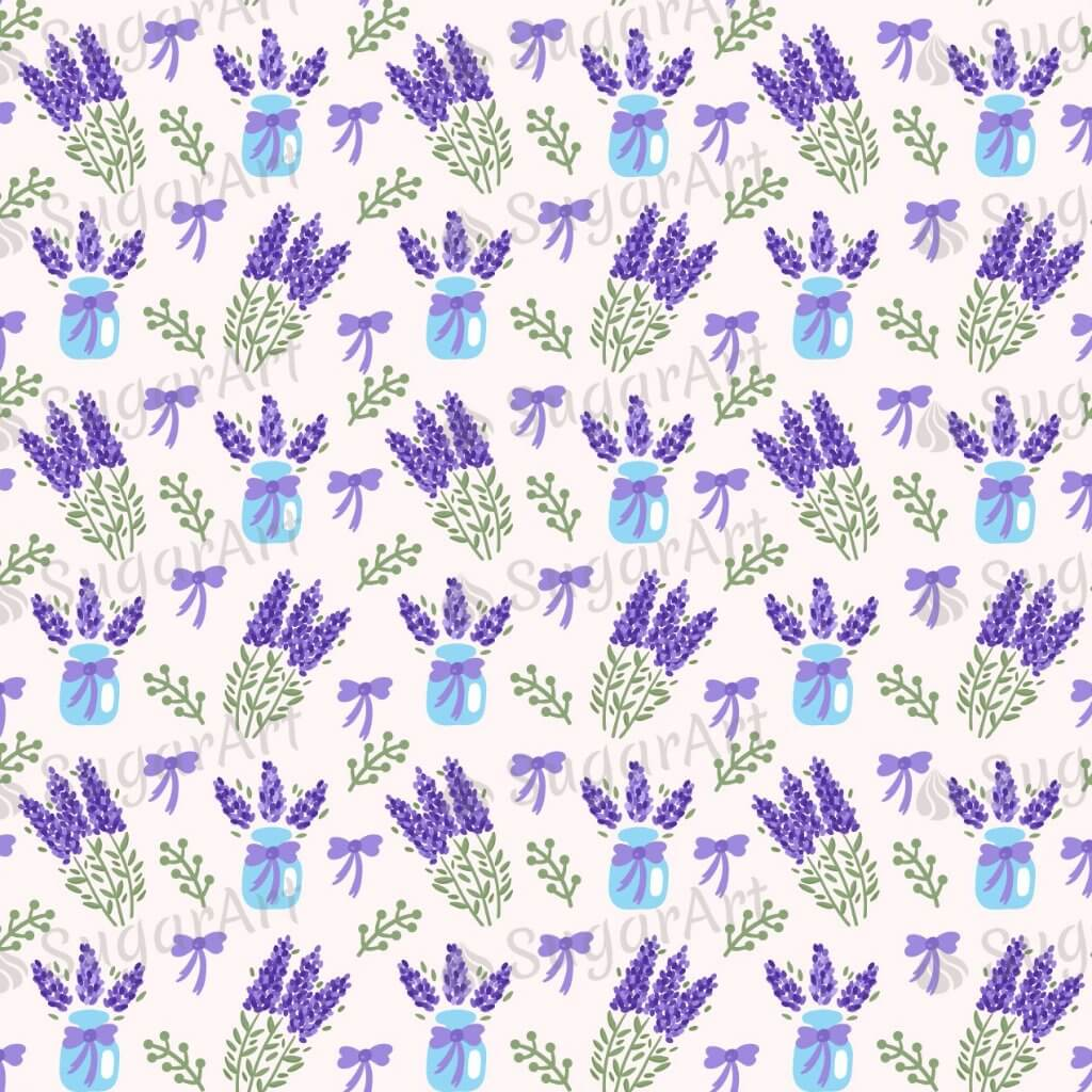 Watercolor Lavender Background - BSA028-Sugar Stamp sheets-Sugar Art