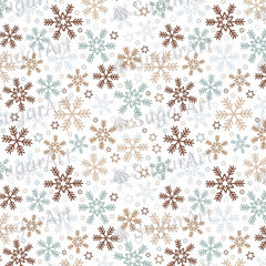 Gold and Silver Snowflakes and Stars - BSA037