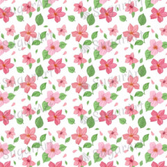Pink Flowers with Leaves Background - BSA039