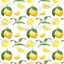 Load image into Gallery viewer, Watercolor Lemons Pattern - BSA040-Sugar Stamp sheets-Sugar Art