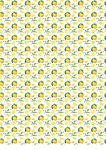 Watercolor Lemons Pattern - BSA040-Sugar Stamp sheets-Sugar Art