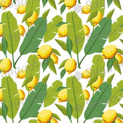 Background of Palm Leaves and Lemons - BSA041