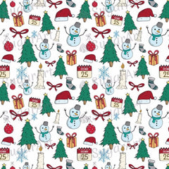Merry Christmas Pattern, Doodle Style - BSA042
