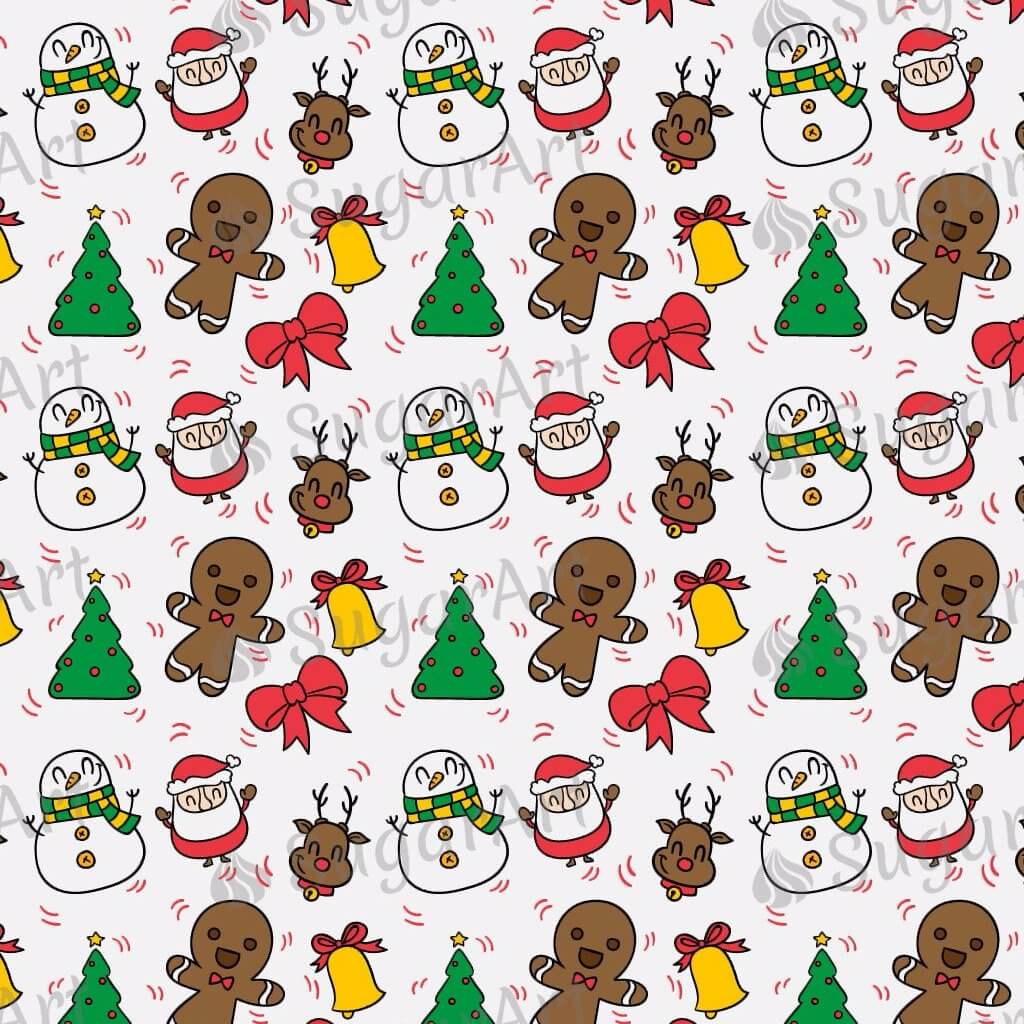 Hand Drawn Christmas Characters - BSA043