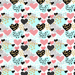Hearts and Dots background - BSA046