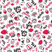 Load image into Gallery viewer, Doodle Valentine Background - BSA047-Sugar Stamp sheets-Sugar Art