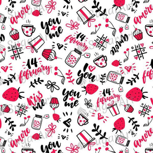 Doodle Valentine Background - BSA047-Sugar Stamp sheets-Sugar Art