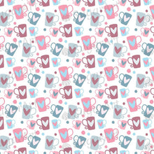 Load image into Gallery viewer, Romantic Pattern with Beautiful Cups - BSA049-Sugar Stamp sheets-Sugar Art