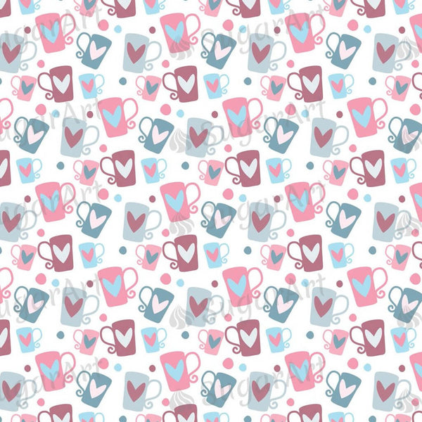 Romantic Pattern with Beautiful Cups - BSA049