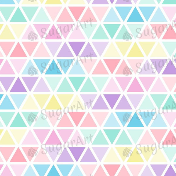 Pastel Colors Triangles - BSA050