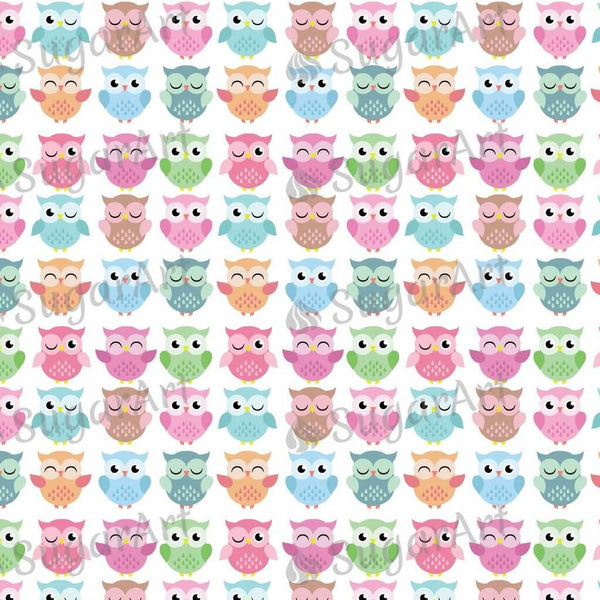 Cute Owls Background - BSA053