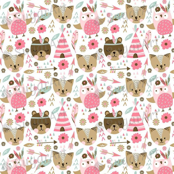 Pink Animals Background - BSA054