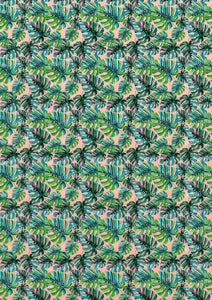 Tropical Palm Leaves- Exotic - BSA063-Sugar Stamp sheets-Sugar Art