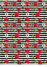 Load image into Gallery viewer, Red Poppy Flowers Pattern Striped - BSA071-Sugar Stamp sheets-Sugar Art