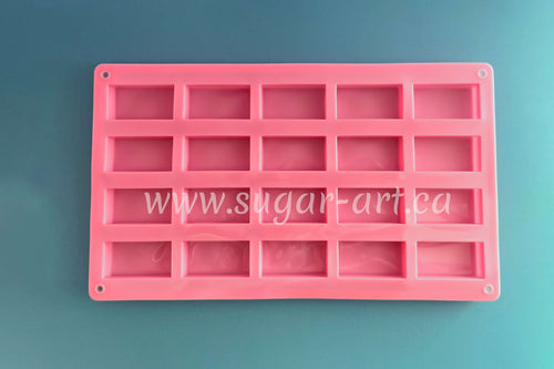 Rectangle Candy Silicone Mold - 20 Cavity 1.9